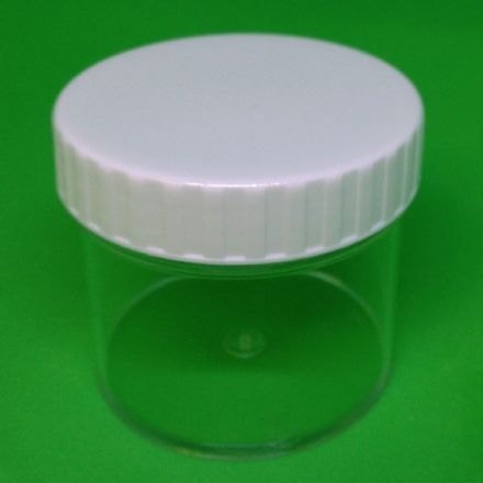 Clear 100 ml Container White screw cap